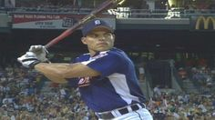MLB (7/11/2005): Iván Rodríguez (Detroit Tigers) crushes seven home runs in the first round of the Home Run Derby at Comerica Park. (Video)