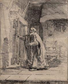 [El ciego Tobías]. Rembrandt Harmenszoon van Rijn 1606-1669 — Grabado — 1651