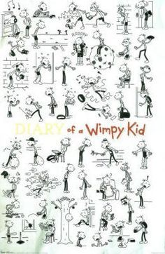 how to draw wimpy kid characters step by step - Google Search