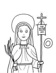 Week 15- 4/20/16- Saint Odilia coloring sheet