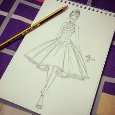 MJM Illustration&Design #19✏ Finally! I got to draw again! ❤ #2017 #newyear #fastsketch #artwork #sketch #sketching #sketchbook #draw #drawing #model #figure #fashion #fashiondesign #design #pencil #creative #creativity #illustration #illustrator #artist #designer #instaart #igart #instagram #followme #passion #bahrain #artphotography #artphoto