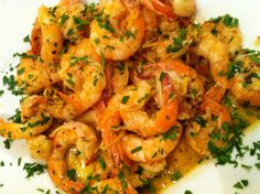 Bourbon Shrimp Scampi recipe and video... I made this with Garlic Noodles and the artisan bread....Yum (substituted the bourbon with vanilla extract)