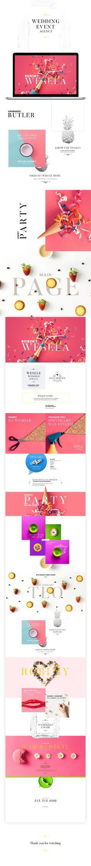 Wedding event agency website on Behance Website Layout, Web Layout, Layout Design, Ux Design, Webdesign Inspiration, Web Inspiration, Site Web Design, Page Design, Branding