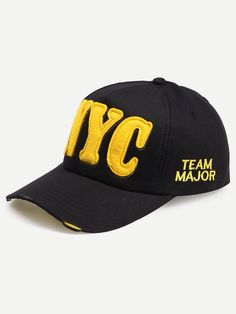 Black Embroidered Letters Baseball Hat Mobile Site