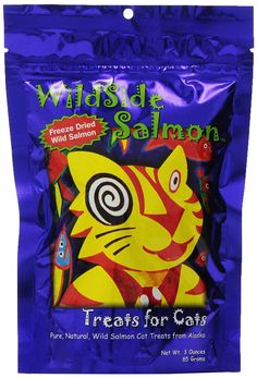 WildSide Salmon Cat Treats - 3 oz >>> Learn more by visiting the image link.