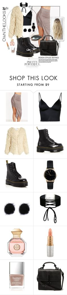 """Shein coffee skirt"" by meljoh ❤ liked on Polyvore featuring T By Alexander Wang, Ryan Roche, Dr. Martens, Freedom To Exist, Miss Selfridge, Tory Burch, Mariah Carey, Butter London, contest and Sheinside"