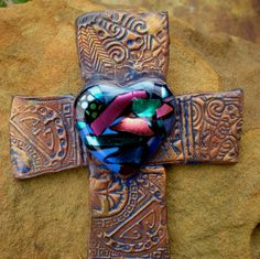 Shop for on Etsy, the place to express your creativity through the buying and selling of handmade and vintage goods. Cross Love, Sign Of The Cross, Horror Photography, Vintage Photography, Wall Crosses, Pottery Ideas, Religious Art, Hanging Art, Vintage Dolls