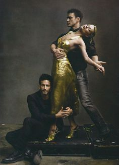 Marc Jacobs, Kate Moss, and Justin Timbrelake photographed by Annie Leibovitz, Vogue May 2009