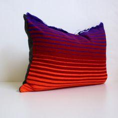 FREE SHIPPING - Serape Mexican Blanket Pillow / Red / Purple / Orange / Gradient / Ombre / Desert Modern / Southwest / Cushion