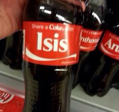 Give me a coke, no isis please... I hate it, but my family may not be buying coke products anymore....super bummer!