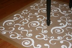 hand painted rug
