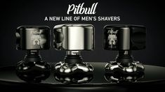 Skull Shaver Announces: Pitbull Head and Face Shavers Mens Shaver, Electric Razor, Wet Shaving, Pitbulls, Perfume Bottles, Skull, Silver, Face, Pit Bulls