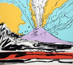 From Gagosian, Andy Warhol, Vesuvius Acrylic and serigraphy on canvas, 71 × 78 in Andy Warhol Pop Art, Andy Warhol Prints, Framed Wall Art, Canvas Wall Art, Modern Art, Contemporary Art, Artist Art, Les Oeuvres, Collage Art