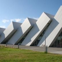 Polaria Museum, Tromso, Norway. This building looks like library bookshelves falling over one another!