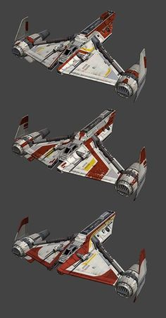 Star Wars X Wing Miniatures Game Republic Gunship paint jobs: