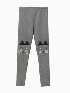 ELF SACK Cat Embroidered Leggings