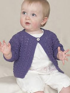 Design from The Sixth Sublime Baby 4ply Hand Knit Book (693) 18 designs for baby girls and boys from 0 to 3 years knitted in Sublime Baby Cashmere Merino Silk 4ply | English Yarns