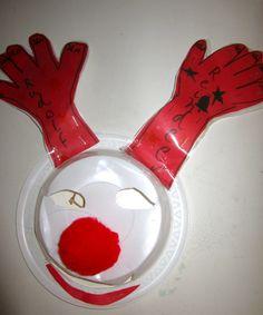 'Rudolf' - 2015. Christmas paper mask art.