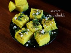 nstant bread dhokla recipe, easy bread dhoklas with step by step photo/video. breakfast or snack recipe from the gujarati cuisine similar to khaman dhokla.