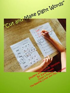 Cut and Make Sight Words from The Reading Corner on TeachersNotebook.com -  (15 pages)  - This package includes 10 �Look/Say� sight word activities with High Preschool/Kindergarten level Sight Words.  It also includes a �Write the Sight Words� Extension Sheet.