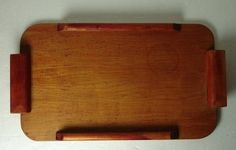 Art Deco Bauhaus wooden serving ttray by Hotlavabeach on Etsy
