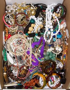 Lot 570: Costume Jewelry Assortment; Including bracelets, necklaces, pins, pendants and earrings
