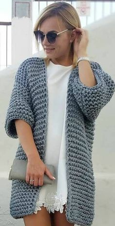 Sleek and Glamour Crochet Cardigan Pattern Ideas Part 50 – Beauty Crochet! Sleek and Glamour Crochet Cardigan Pattern Ideas Part 50 Sleek and Glamour Crochet Cardigan Pattern Ideas Part 50 Crochet Cardigan Pattern, Crochet Jacket, Knit Cardigan, Knit Crochet, Crochet Patterns, Cardigan Sweaters For Women, Cardigans For Women, Fashion Show Dresses, Simply Crochet