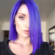 Joico Purples Warmer: 3 parts Joico Wild Orchid, 2 parts Light Purple, 1 part Titanium OR Cooler: 2 parts Light Purple, 1 part Titanium, and a touch of Indigo to deepen the color The model's hair was about a level 8, light blonde when the purple dyes were used.
