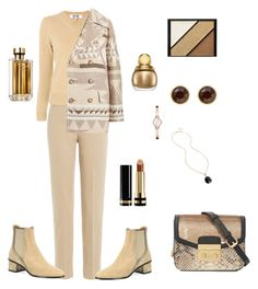"""""""Untitled #312"""" by valeria-coroianu on Polyvore featuring 7 For All Mankind, Chloé, Calvin Klein, Karen Millen, Kenneth Cole, DKNY, Gucci, Elizabeth Arden and Prada"""