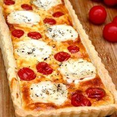 Tarte au fromage de chèvre et tomates cerises