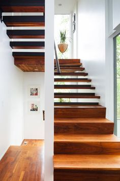 Retro Bullet Planter in Rattan Photo courtesy of Calvin Florian Architecture Details, Interior Architecture, Interior And Exterior, Future House, My House, House Stairs, Wood Stairs, Home Board, Atlanta Homes