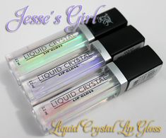 Jesse's Girl Liquid Crystal Lip Gloss. Dupes for Inglot AMC lip glosses
