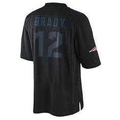830fcc465 Official New England Patriots ProShop - Nike Tom Brady #12 Impact Jersey-Black  Jersey