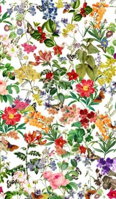 pretty foral print - I want a table cloth like this!