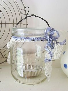 Shabby candle glass by MatildasDesign, via Flickr