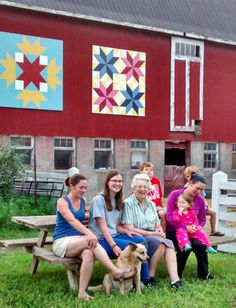 "Prince Edward County Ontario, gets on the barn quilt trail. Family and friends celebrate ""rural art"". visit www.pecbarnquilttrails.com for more photos."
