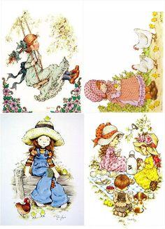 Orphan Girl, Free Adult Coloring Pages, Holly Hobbie, Art N Craft, Antique Christmas, Digi Stamps, Art Plastique, Vintage Cards, Cuban