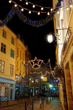 Christmas street decorations, Lille, France