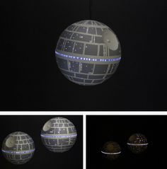 DIY Death Star LED ornament [Because there has to be. Star Wars Christmas, Christmas Diy, Christmas Ornaments, Geek Crafts, Diy Arts And Crafts, Gadget, Bullet Jewelry, Geek Jewelry, Gothic Jewelry
