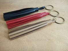 Items similar to OFF Handmade Faux Leather Keychain / Black, Βordeaux, Light Brown Colors / Large Tassel Key Charm / Bag Charm Accessory / Lobster Clasp on Etsy Leather Tassel Keychain, Leather Bag, Key Chain, Tassels, Charmed, Handmade, Bags, Etsy, Color