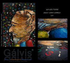 LA LECTURA Oleo sobre lienzoi Eduardo Galvis