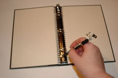 How to turn a hardback book into a binder notebook/journal.  I love the thought of this...