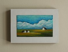 Landscape painting barn painting house by MarieClaproodArt on Etsy