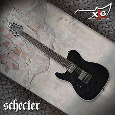 Schecter Left Handed 2015 Chris Garza Signature Pt-7 Lefty Guitar - http://www.7stringguitar.org/for-sale/schecter-left-handed-2015-chris-garza-signature-pt-7-lefty-guitar/31439/