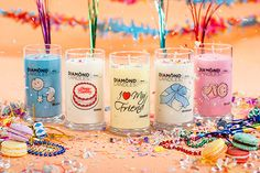 """Diamond Candles!! They have a lot to choose from even """"it's a boy"""" and """"it's a girl"""" candles that would be great for revealing the sex of the baby you are having ;)"""