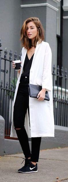 #street #style black and white jumpsuit @wachabuy