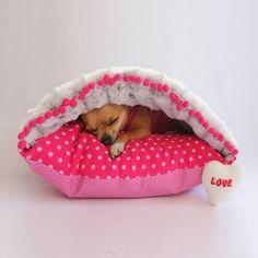 Beim Hundebett Design sollte man Rücksicht auf die Hunderasse nehmen. Zum Beispiel ein Chihuahua braucht ein viel kleineres Bett als ein Dalmatiner...