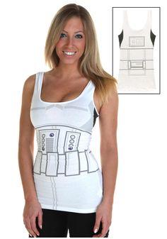 Womens Stormtrooper Tank Top Run Disney Costumes d573a4e339443