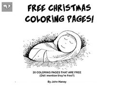 20 free coloring pages for Christmas! Pictures include: the announcement of…