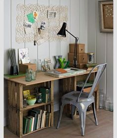 maybe make a kitchen table with these crates? extra storage for pots and pans?